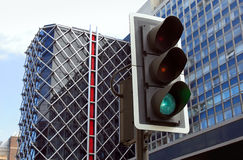 Traffic lights in city. Stock Image