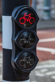 Traffic lights in city Luxembourg. Royalty Free Stock Photos