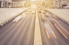 Traffic lights of the city road. Royalty Free Stock Photo