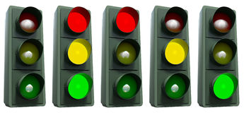 Traffic lights collection Stock Photography