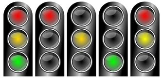 Traffic lights collection Stock Photo