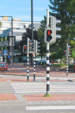 Traffic lights at the   crossroads Stock Images