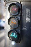 Traffic lights for cyclists Stock Image