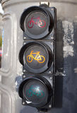 Traffic lights for cyclists Royalty Free Stock Image