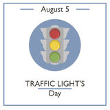Traffic Lights Day, August 5 Stock Photo