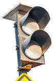Traffic lights flashing yellow Royalty Free Stock Images