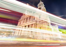 Traffic lights in front of St Paul Cathedral - London Royalty Free Stock Image