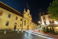 Traffic lights fulda germany in the evening. Some traffic lights fulda germany in the evening Stock Photography