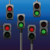 Traffic Lights Gay Lesbian Straight Couples Pedestrian Royalty Free Stock Image