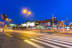 Traffic lights of Grunwaldzka Avenue in Gdansk Royalty Free Stock Image