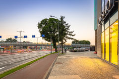 Traffic lights of Grunwaldzka Avenue in Gdansk Stock Photo