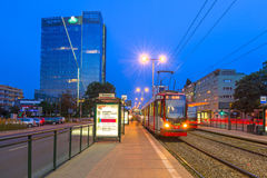 Traffic lights of Grunwaldzka Avenue in Gdansk Stock Images
