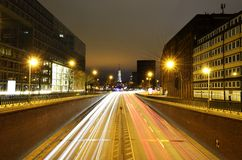 Traffic lights in Hamburg city in Germany Royalty Free Stock Photography