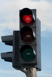 Traffic lights in Iceland Stock Photos
