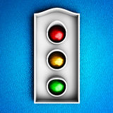 Traffic lights icon Stock Images