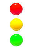 Traffic lights icon red yellow green Stock Photography