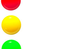 Traffic lights icon red yellow green Stock Images