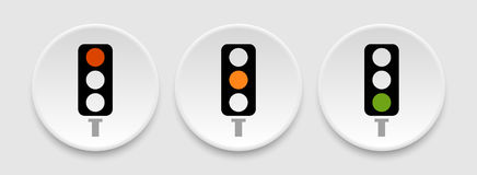 Traffic lights icons Stock Image