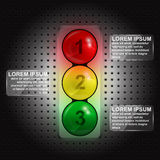 Traffic lights infographic Stock Image