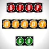 Traffic lights with instructions Stock Photo