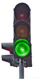 Traffic lights isolate Royalty Free Stock Photo