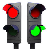 Traffic lights isolated Royalty Free Stock Photography