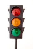 Traffic lights isolated on white background Royalty Free Stock Photos