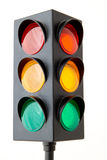 Traffic lights isolated on white background Royalty Free Stock Photo