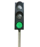Traffic lights isolated. On white background Royalty Free Stock Images