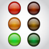Traffic lights isolated on white Royalty Free Stock Photos