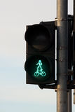 Traffic lights with a keen light. Security Royalty Free Stock Photo