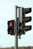 Traffic lights with a keen light Stock Photo