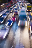 Traffic lights in motion blur Stock Images