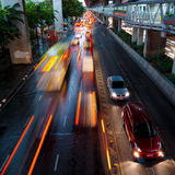Traffic lights in motion blur. Stock Photos