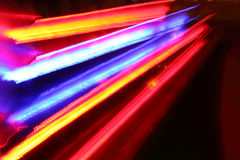 Traffic lights in motion blur. Royalty Free Stock Photo