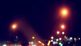 Traffic lights of the night city road. HD. 1920x1080 stock footage