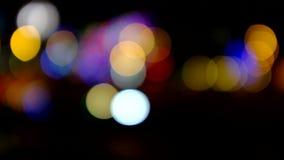 Traffic lights at night stock video footage