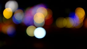 Traffic lights at night. Time stock footage