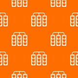 Traffic lights pattern seamless. Traffic lights pattern repeat seamless in orange color for any design. Vector geometric illustration Stock Photos