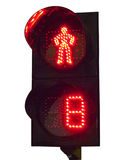 Traffic lights for pedestrians. On a background traffic stock photo