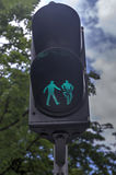 Traffic lights for pedestrians and cyclists Royalty Free Stock Photography