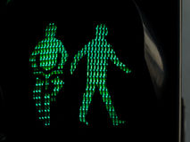 Traffic lights for pedestrians and cyclists Stock Images