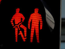 Traffic lights for pedestrians and cyclists Stock Image