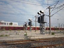 Traffic lights on the railroad - Image royalty free stock photo