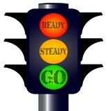 Ready Steady Go Traffic Lights Royalty Free Stock Photography