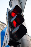 Traffic lights red color. Go banned Royalty Free Stock Image