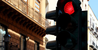 Traffic lights, red Stock Image