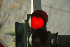Traffic lights red green symbols Royalty Free Stock Images