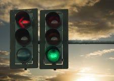 Traffic lights red green symbols Stock Photos
