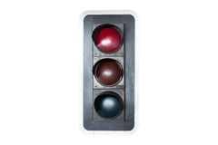 Traffic lights, red green and yellow on blue sky background. Traffic lights, red green and yellow on blue sky background Stock Photos